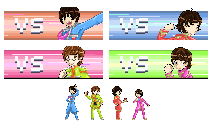 Beatles Trainer Sprites by Ria-and-Ree