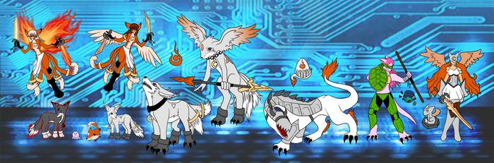 My Digimon by eruanna
