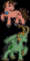 Tony and Loki ponies by eruanna