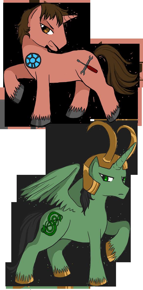 Tony and Loki ponies