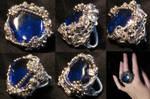 dark blue wire ring