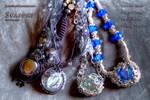 Seasons necklaces by JustOldPurpleAngel