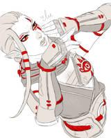Hyrule Warriors - Impa Doodle by iluvmpiche