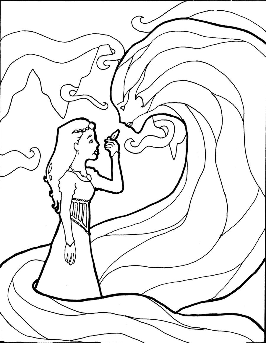 fairytale coloring page by forlaughter on deviantart