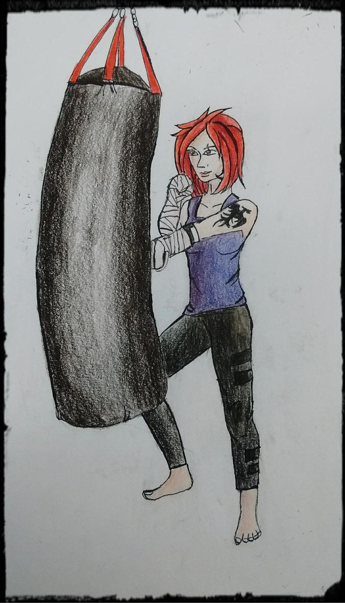 Martial art girl by ThePhoenixGirl31