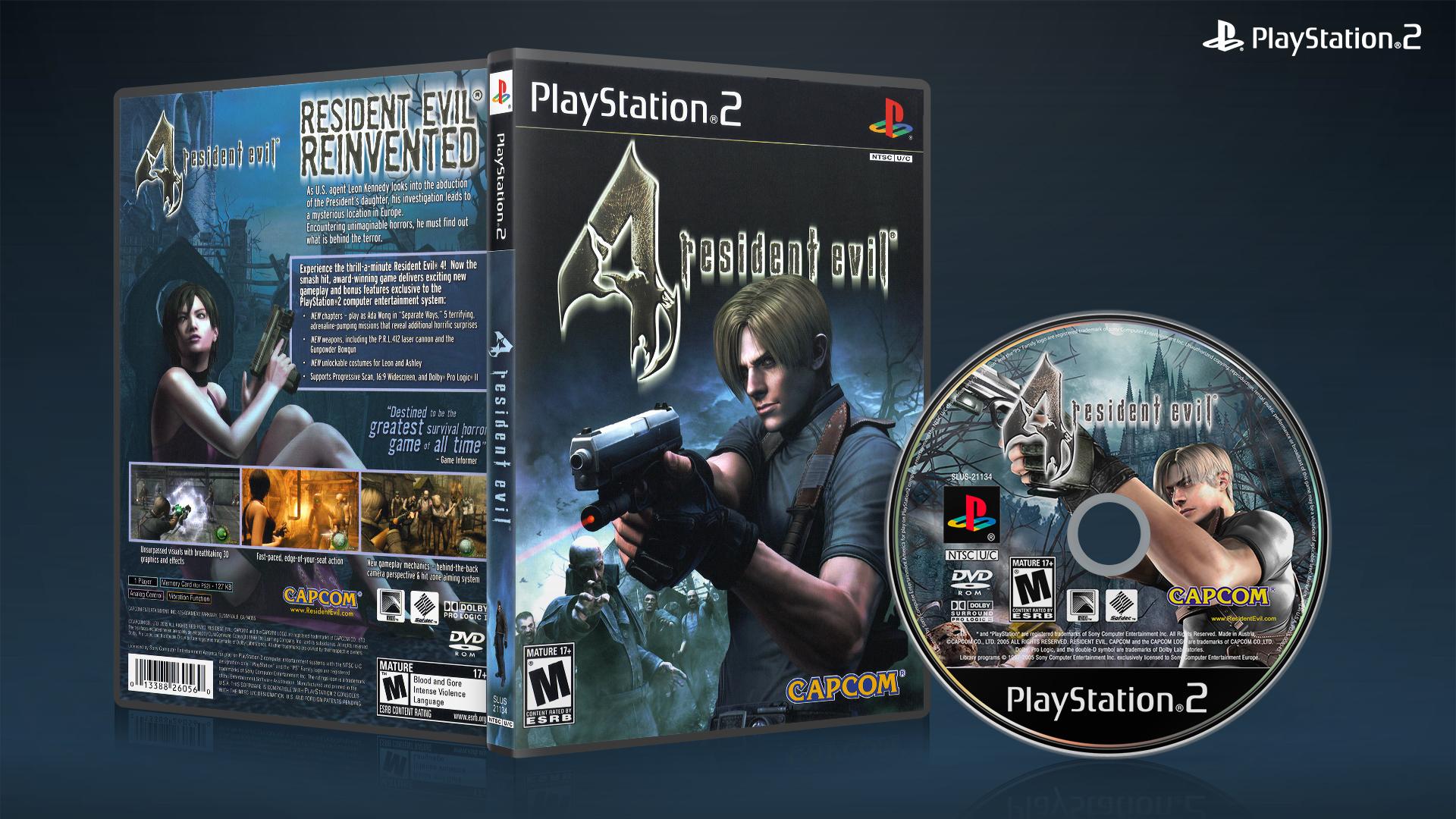 Ps2 Resident Evil 4 Dvd Cover 01 By Xovyant On Deviantart