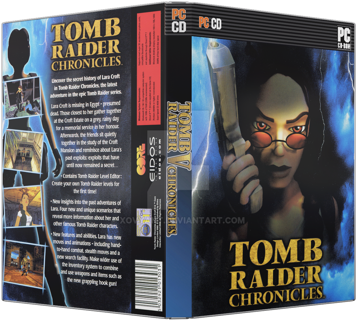 tomb raider chronicles gb pc dvd cover by xovyant on deviantart