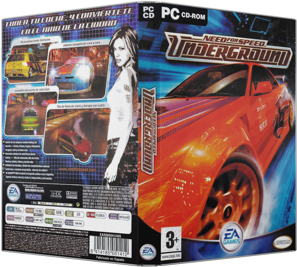 Need For Speed Underground Pc Dvd Cover By Xovyant On Deviantart