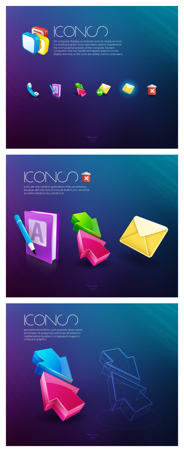 Call icons by dimpoart
