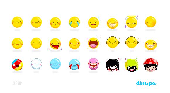 Happy Pixels by dimpoart
