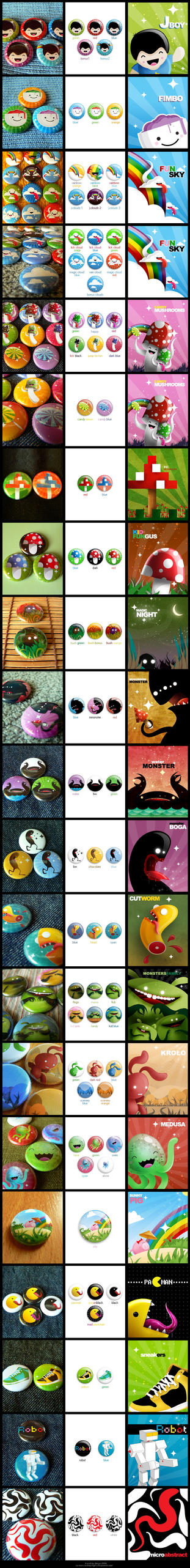 25mm button badges by dimpoart