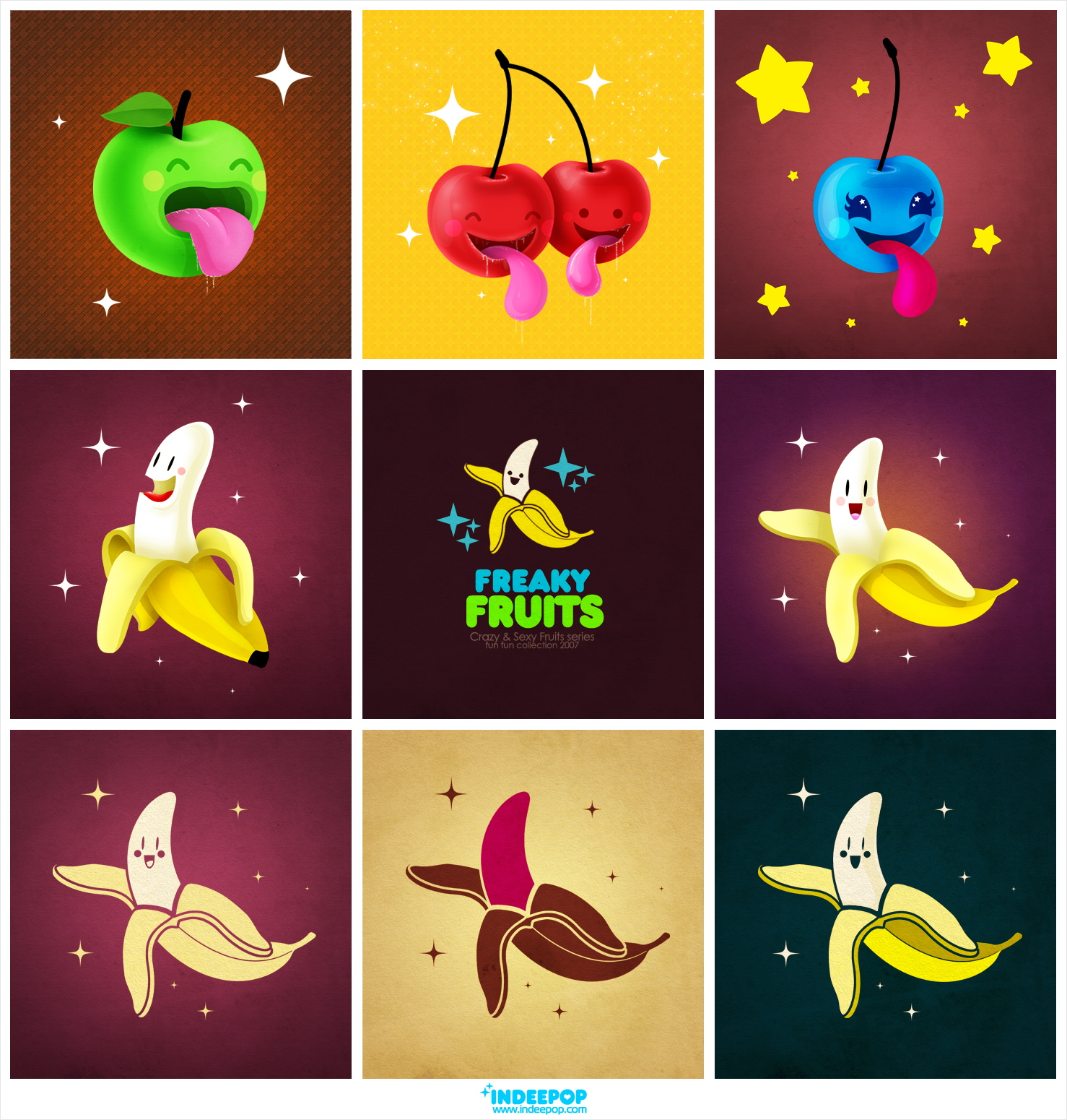 Freaky Fruits by dimpoart