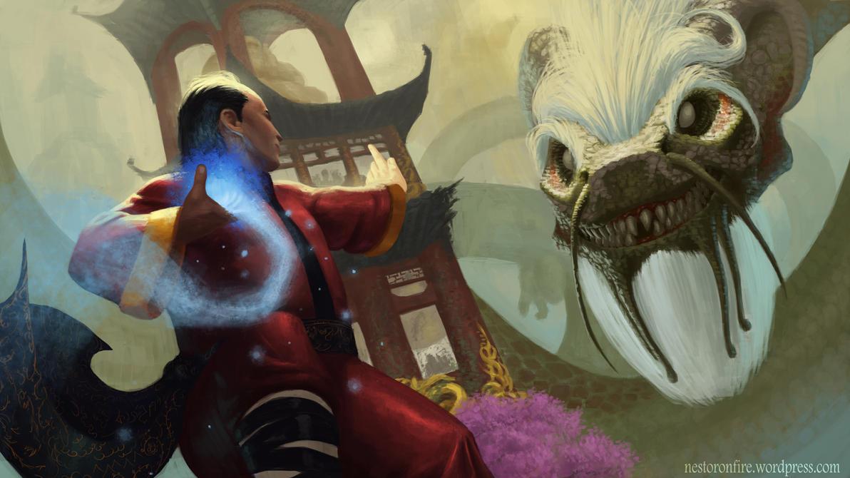Tiger vs Dragon by Nestoronfire