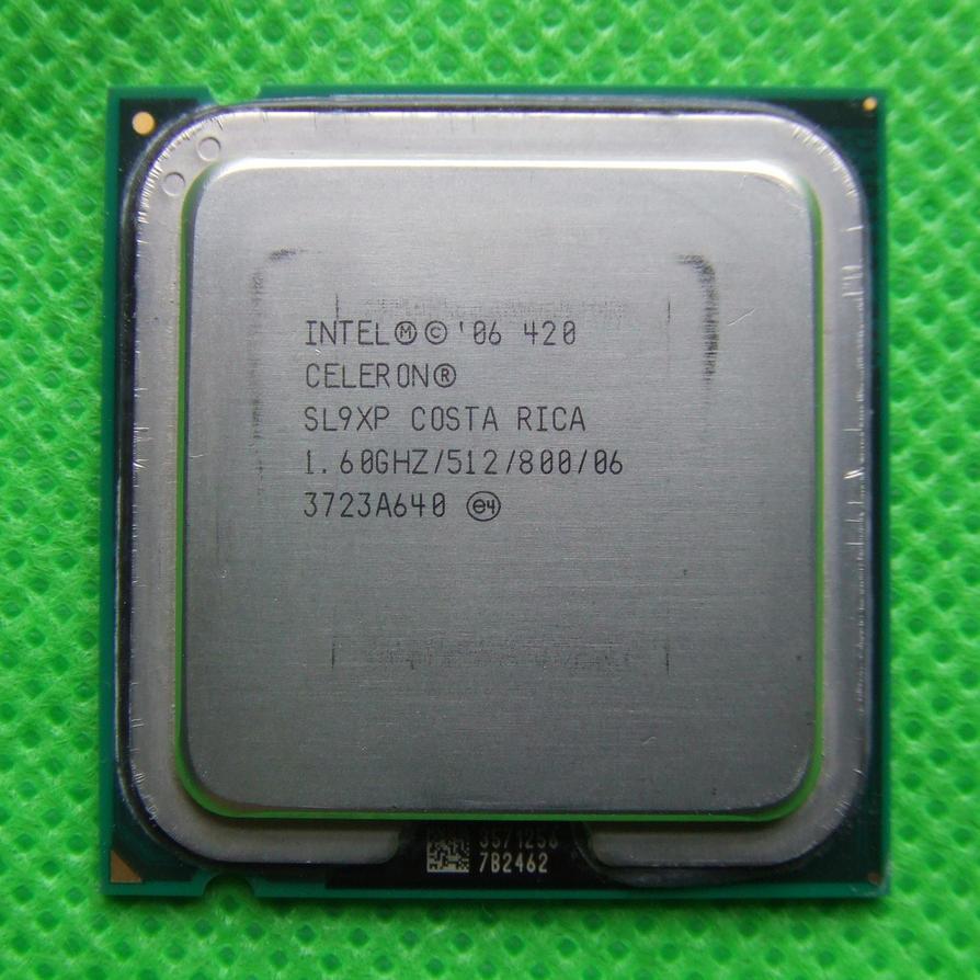 celeron 420_Intel Celeron 420 socket 775 front by PaulRokicki on DeviantArt