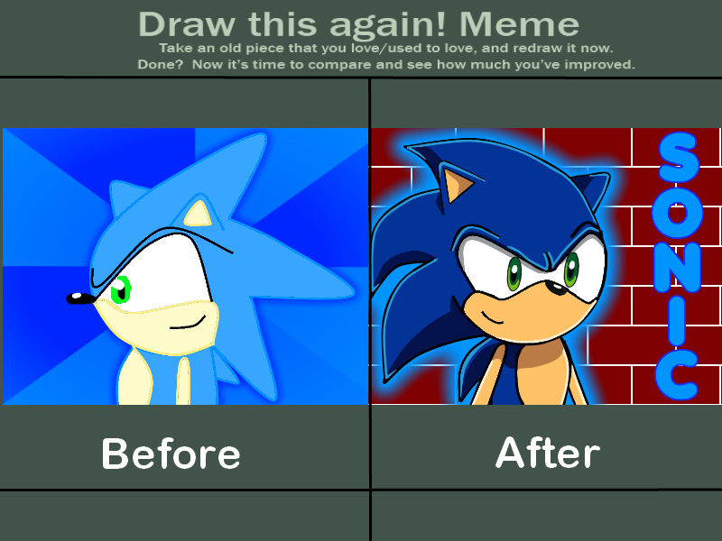 Draw This Again Meme Sonic The Hedgehog By Bagogo On Deviantart