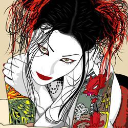 Red Cat Tattoo by krotalos