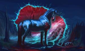 Blue Horse by AnnaP-Artwork