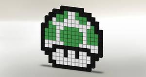8-Bit 1-Up Mushroom