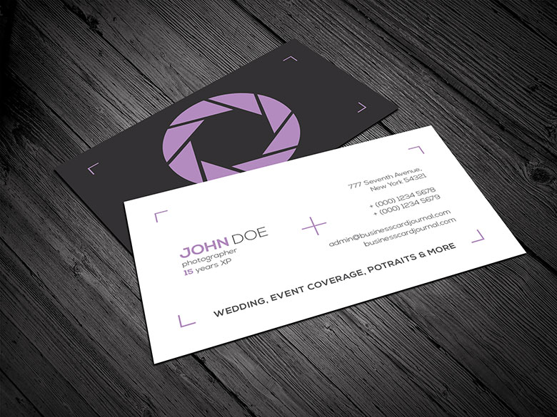 Minimal Photography Business Card Template By Mengloong On Deviantart