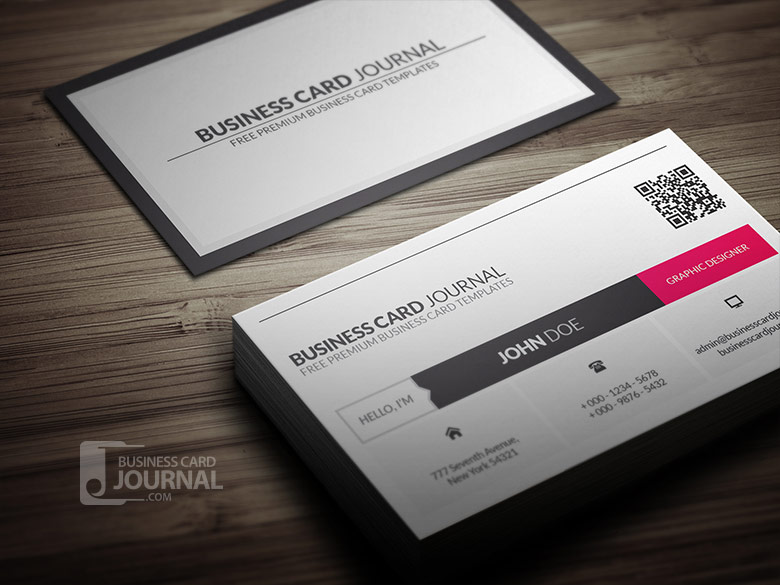 Metro style business card template with qr code by mengloong on metro style business card template with qr code by mengloong reheart Image collections