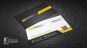Corporate Professional QR Code Business Card Templ