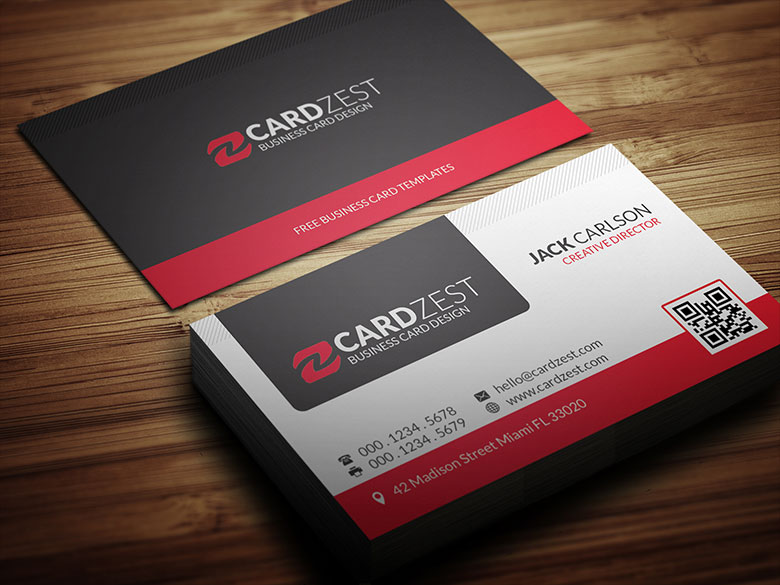 Free modern professional business card template by for Free modern business card templates
