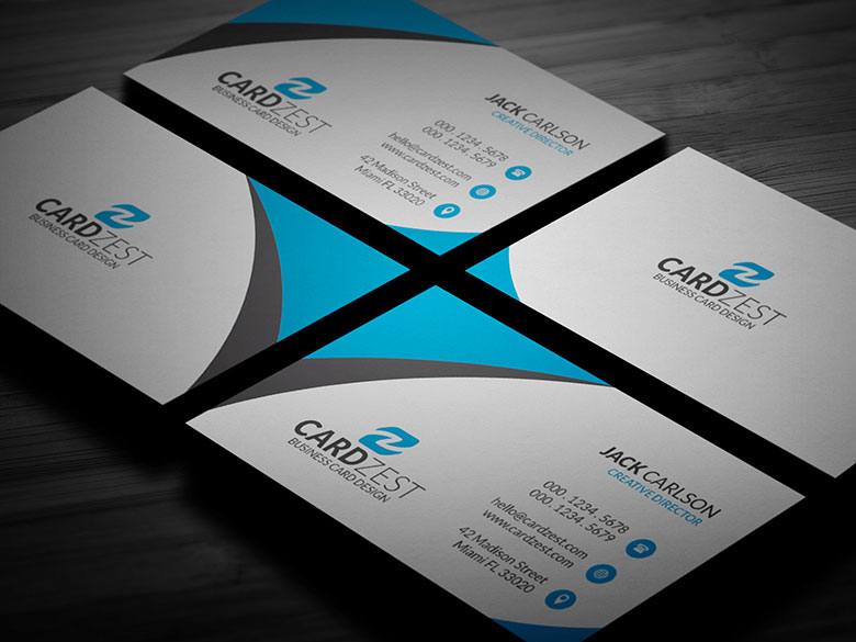Free Sleek Blue Business Card Template By Mengloong On Deviantart