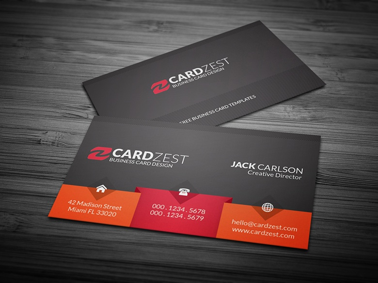 Free Unique Business Card Template by mengloong on DeviantArt