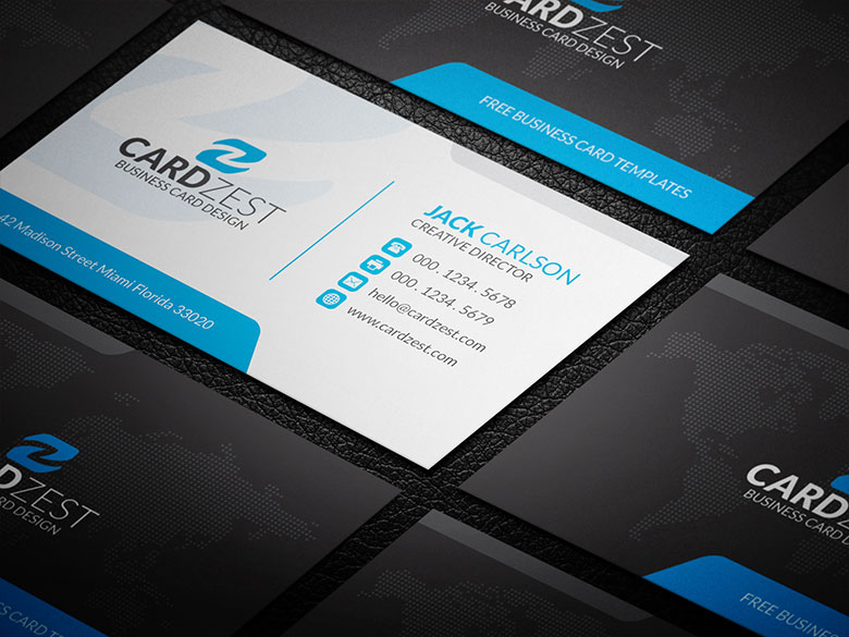Black blue white corporate business card template by mengloong on black blue white corporate business card template by mengloong reheart Gallery