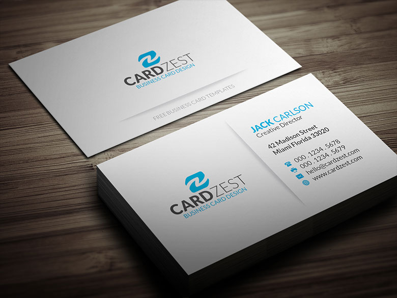 simple blue minimalist business card template by mengloong on deviantart