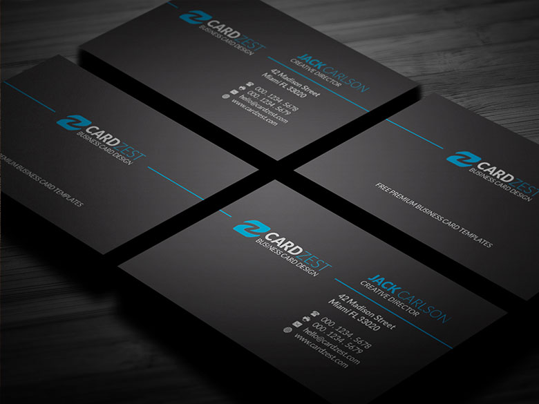 Classic Black Minimalist Business Card Template By Mengloong