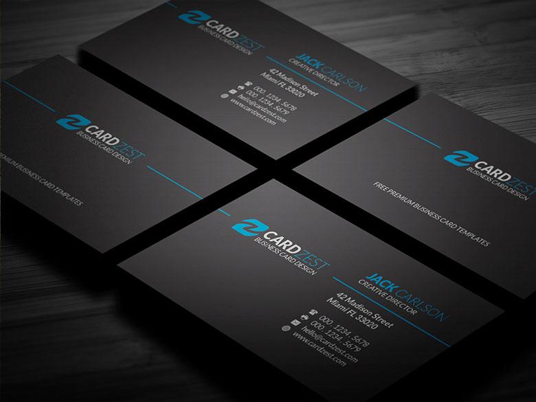 Classic black minimalist business card template by mengloong on classic black minimalist business card template by mengloong colourmoves Image collections