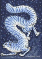 ACEO Snow Cat 2 by vashley