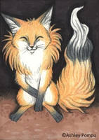 ACEO Fox greetings by vashley
