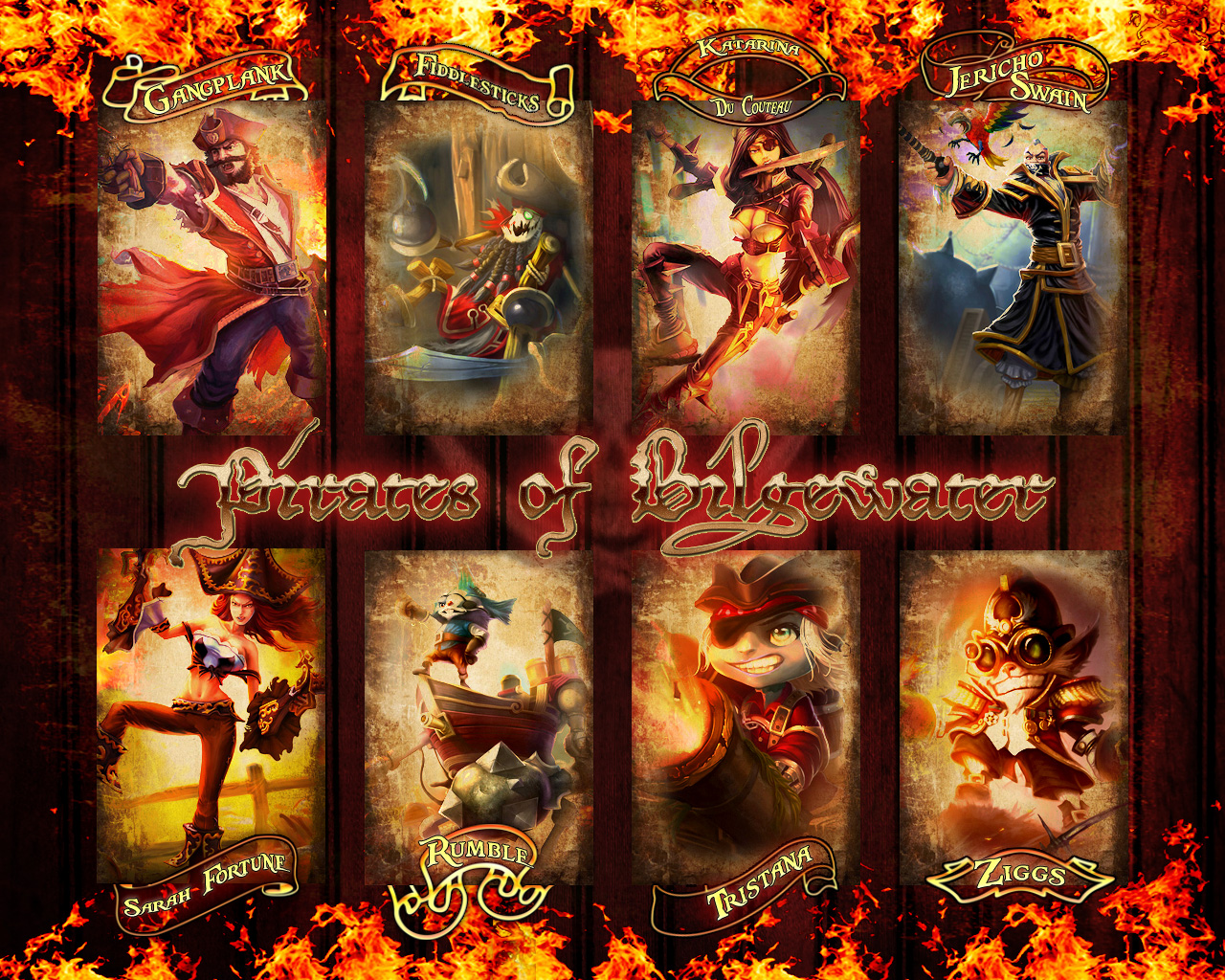 Pirates of Bilgewater Wallpaper by PaoloPuzza on DeviantArt