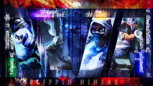 Flippin' Ninjas 2 Wallpaper 1366x768 by PaoloPuzza