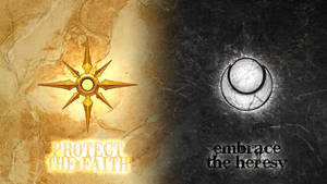 Protect the Faith, Embrace the Heresy Wallpaper by PaoloPuzza