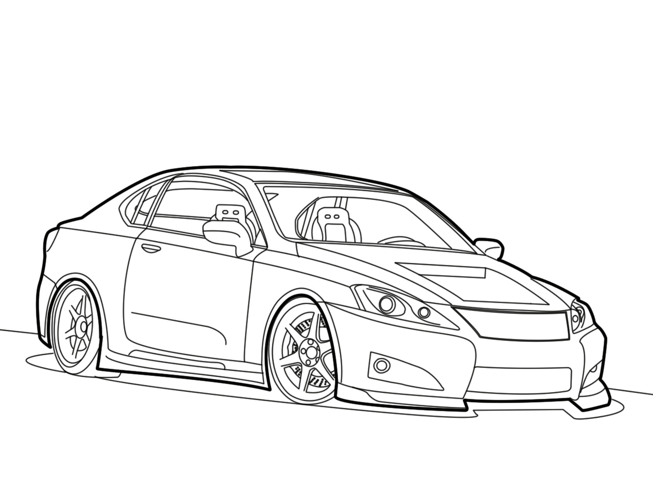 Line Drawing Of Car : Ohitszjess what s my line