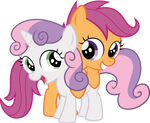 Sweetie Belle and Scootaloo