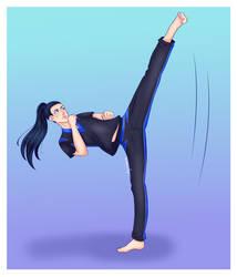 Hisui's High Kick by MysticDeadman