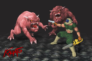 Doom: Marine vs Demons by StudioKagato