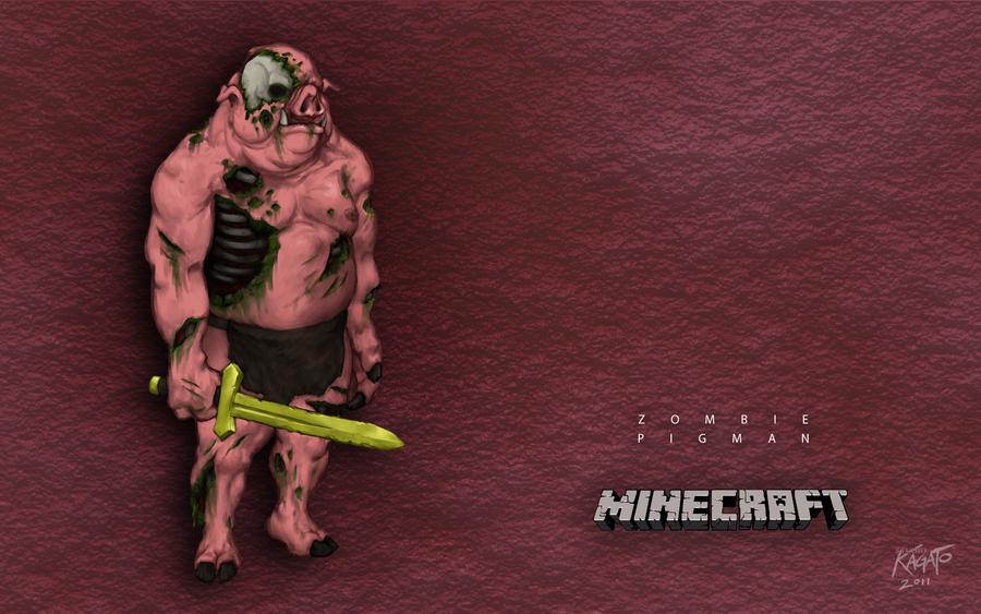 Zombie Pigman Wallpaper by StudioKagatoReal Life Minecraft Zombie Pigman