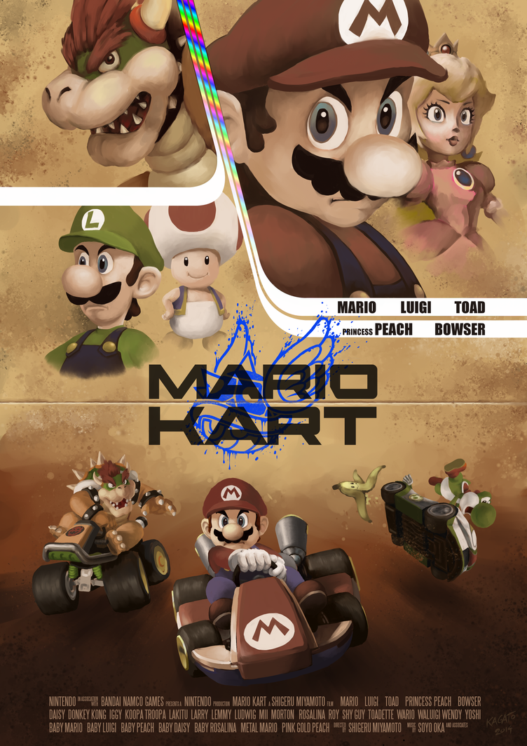 Mario Kart movie poster by StudioKagato