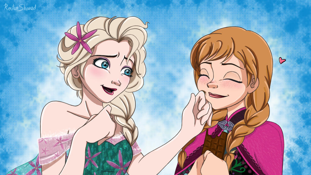 Anna and elsa by musashichan on deviantart anna and elsa by musashichan voltagebd Choice Image