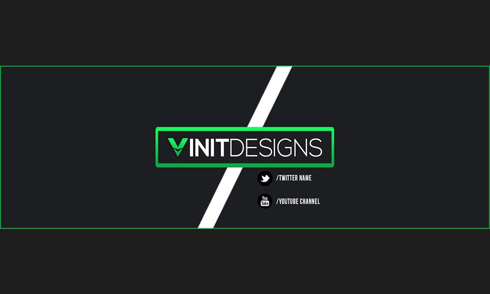 clean boxed professional twitter banner by vinitdesigns on deviantart. Black Bedroom Furniture Sets. Home Design Ideas