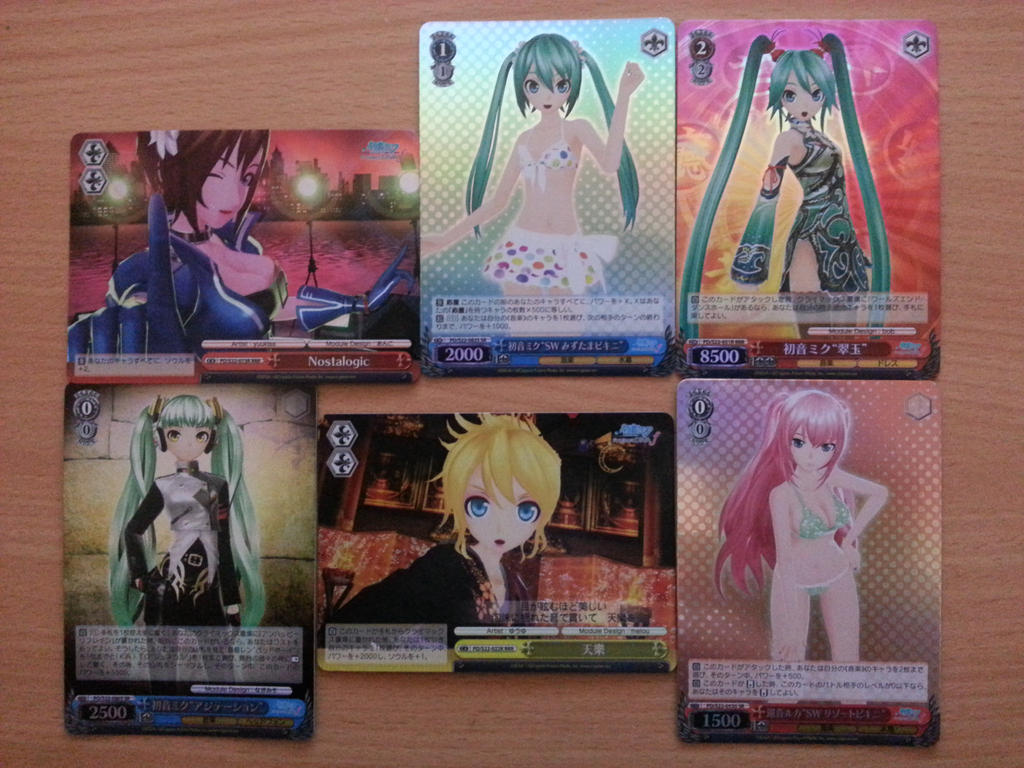 hatsune miku weiss schwarz holo cards by fubukio on deviantart. Black Bedroom Furniture Sets. Home Design Ideas