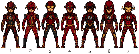 Flash (Barry Allen) Choose Your Fave by snakeyboy888