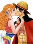 Luffy x Nami Wano Kuni by namiikawaii