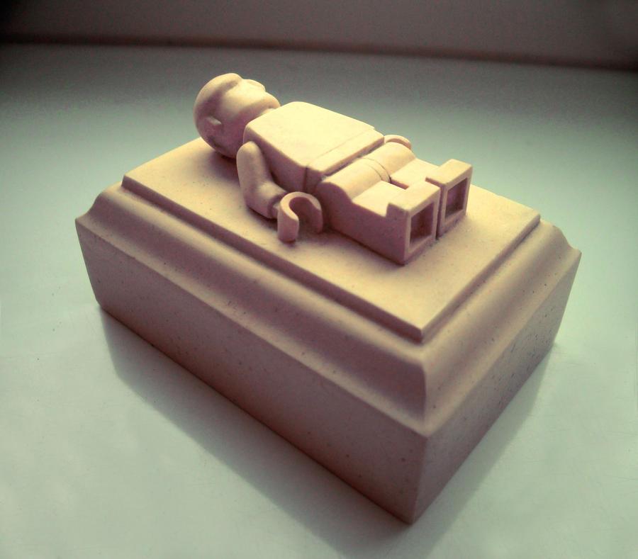 LEGO gravestone by zenekL