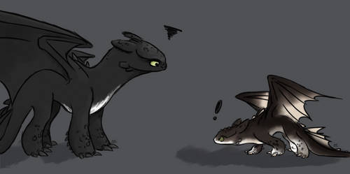 Toothless and Sebastain